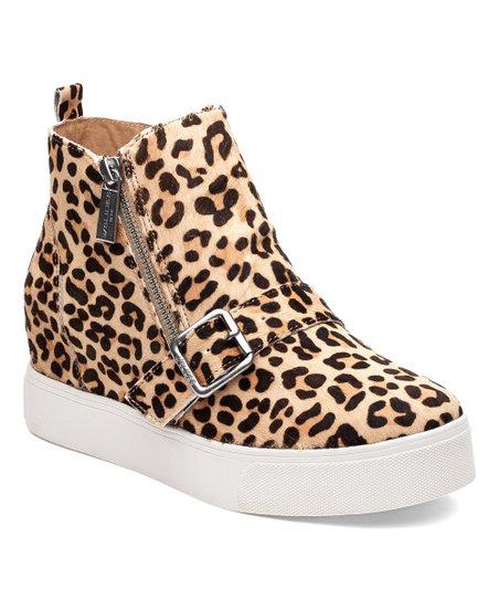 J/Slides Leopard Studdie Hi-Top Sneaker