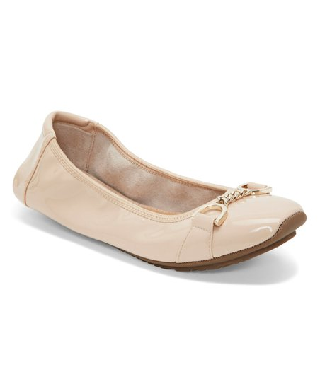 Me Too Nude Brielle Patent Leather Flat