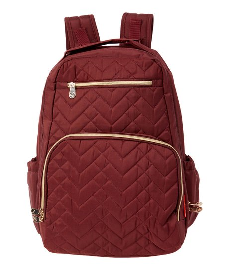 Fisher-Price Burgundy Quilted Morgan Diaper Backpack   Zulily db6d05b405