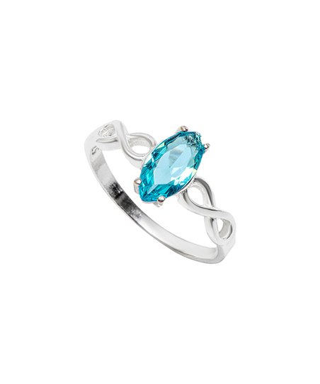 f677fd658 love this product Aqua & Sterling Silver Marquise Ring With Swarovski®  Crystals