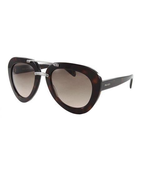 3b937299a7d4 Prada Dark Havana Thick-Frame Modified Aviator Sunglasses - Women ...