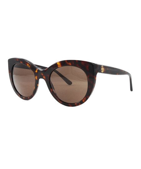 14c3d4fc4147 Tory Burch Dark Brown Tortoiseshell Cat-Eye Sunglasses | Zulily