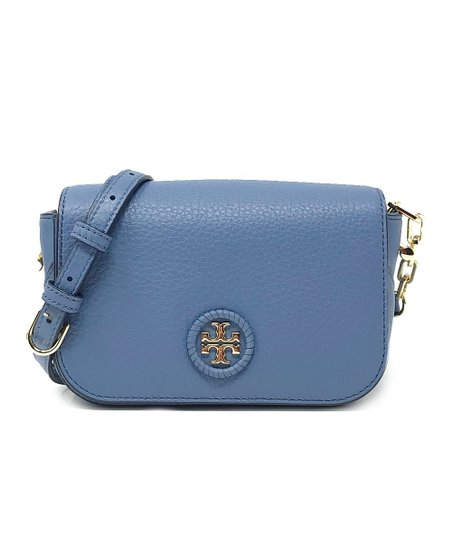 Tory Burch Wallis Blue Whipstitch Petite Leather Crossbody Bag  0c64e26ed