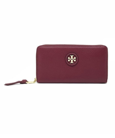 a6940876616 love this product Red Agate Whipstitch Pebbled Leather Wallet