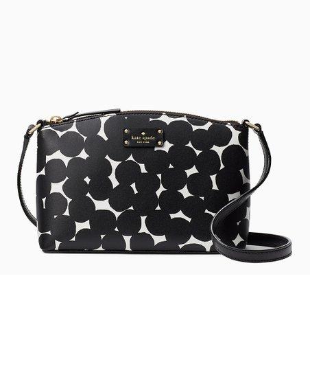 Black Grove Street Splodge Dot Millie Leather Crossbody Bag