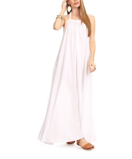 2e13863560f love this product White Halter Maxi Dress - Women