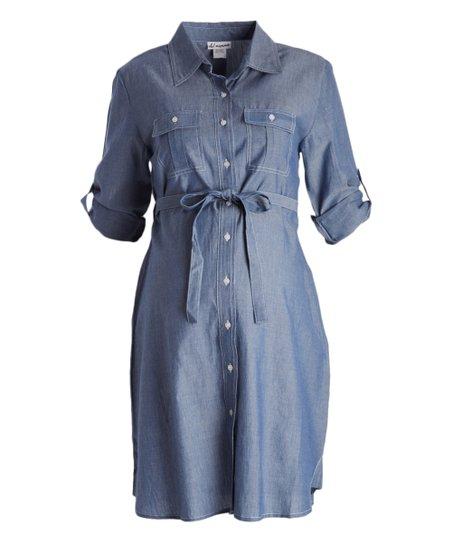 d77af488dc3 Times 2 Blue Maternity Shirt Dress