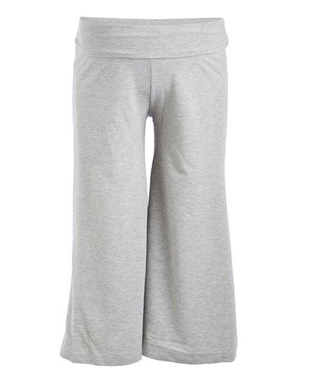 a938a52f99e98 Mom   Co Gray Fold-Over Maternity Gaucho Pants