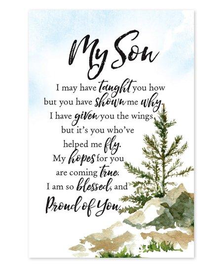 Dexsa 'My Son' Wood Plaque