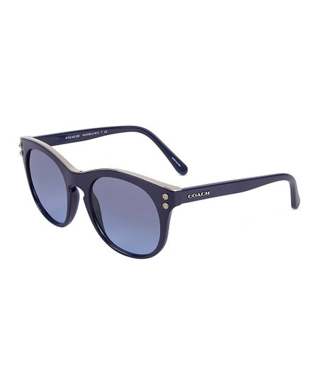 d649ed179d love this product Navy   Gray Blue Gradient Round Sunglasses
