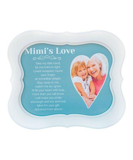 Grandparent Gift Company White Aqua Mimis Love Frame Zulily