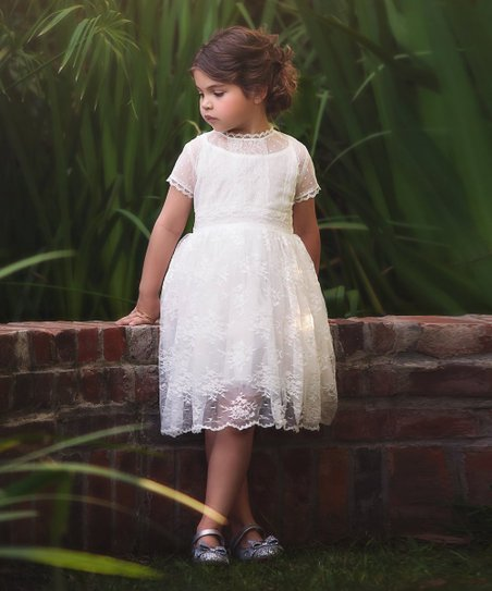6c05f9e1bd Trish Scully Child White Lace Seraphina Dress - Girls
