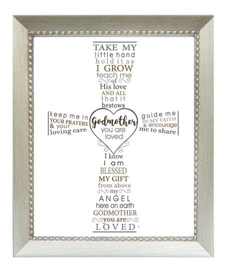 Grandparent Gift Company Godmother Typography Cross Frame