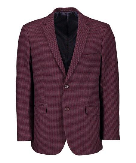U.S. Polo Assn. Burgundy Check Sports Coat - Men  6e32c1bd70c