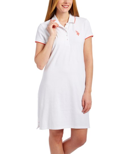 1fab33718dfb love this product Optic White Tipped Dress - Women