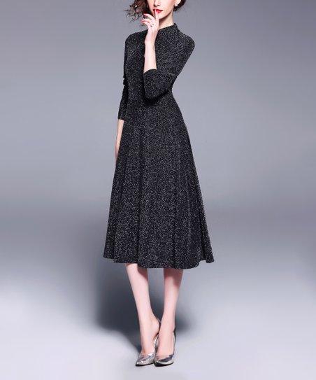 898292424c9 Coeur de Vague Black Keyhole Midi Dress - Women