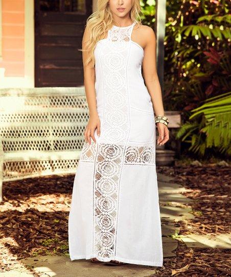 da20fa62c83 love this product White Lace Halter Maxi Dress - Women