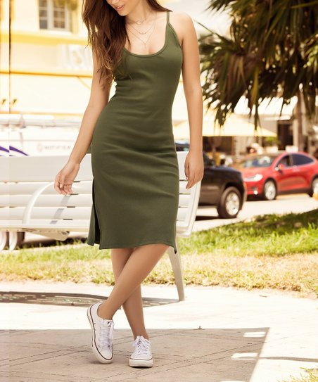 a40a438ce48f love this product Olive Bodycon Dress - Women