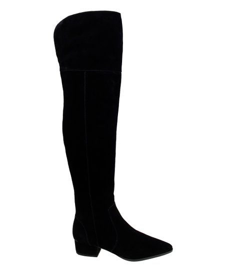 70d89873566 love this product Black Ruby Suede Over-the-Knee Boot - Women