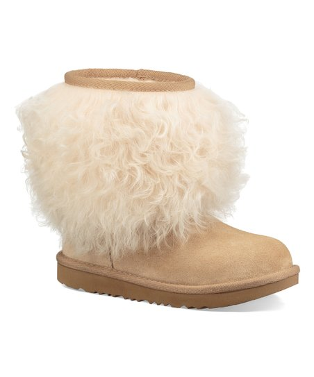 a57c260caff UGG® Natural Classic Short II Fluff Sheepkin Boot - Kids