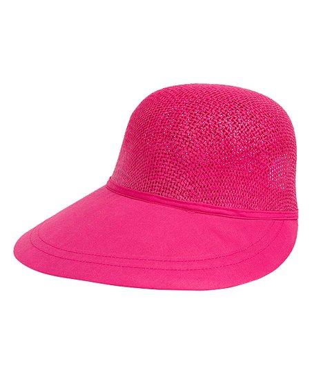 2c2ddf0562dfa2 Magid Fuchsia Large-Brim Straw Hat | Zulily
