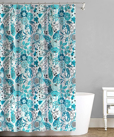 Blue Spring Forever Shower Curtain