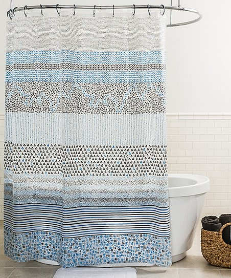 Blue Spry Shower Curtain