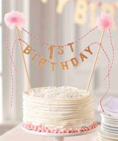 Love This Product Pink 1st Birthday Cake Topper