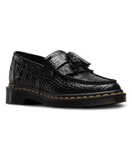 Dr. Martens Black Croc-Embossed Adrian