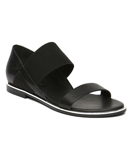 0f9bd6bd98f Jady Rose Black Double-Strap Leather Sandal - Women
