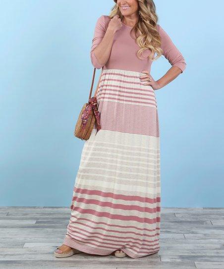 3a1dd2dc7e Coco & Main Dusty Pink Lizzie Maxi Dress - Women | Zulily
