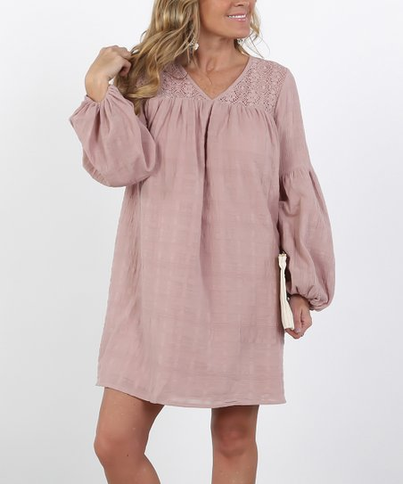 7ff8a137bc3 love this product Pink Linen Lace Shift Dress