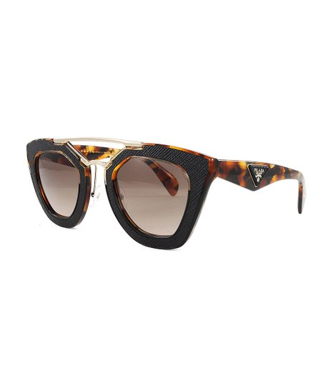 e152303871 love this product Havana   Brown Double-Bridge Cat-Eye Sunglasses - Women
