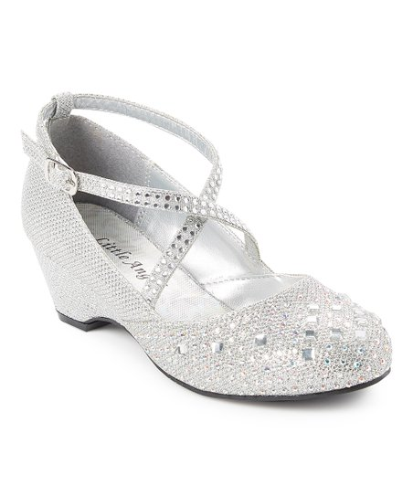 c4ef50d6a986 love this product Silver Glitter Hailey Dress Shoe - Girls