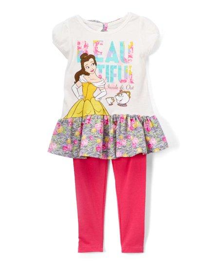 75d30daefaa18 love this product Disney Princess Belle 'Beautiful' Tee & Pink Leggings -  Girls