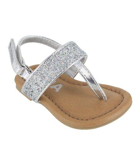 b53bdc1aba42 love this product Silver Glitter Nola Sandal - Girls