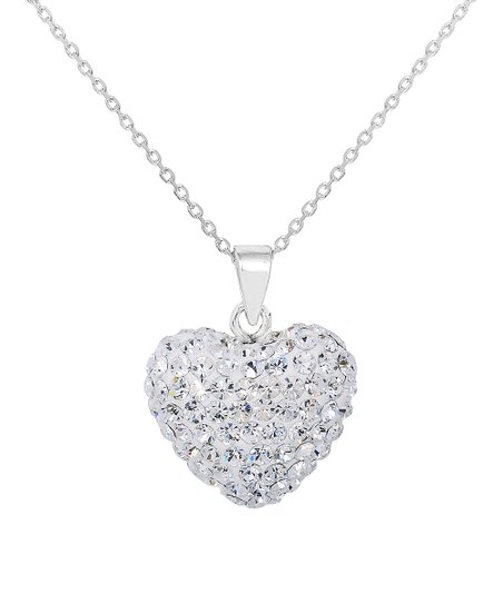 c26e2c2c0b0 love this product Sterling Silver Heart Pendant Necklace With Swarovski®  Crystals