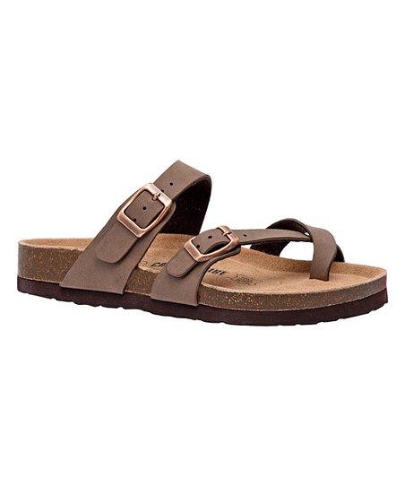 6a8f80268039 Cushionaire Brown Luna Sandal - Women