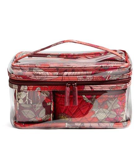 481c55a45802 Vera Bradley Bohemian Blooms Travel Cosmetic Bag Set