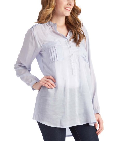 1e92a1f4466 Kay Celine Blue Bell Button-Up Tunic - Petite & Plus Too | Zulily