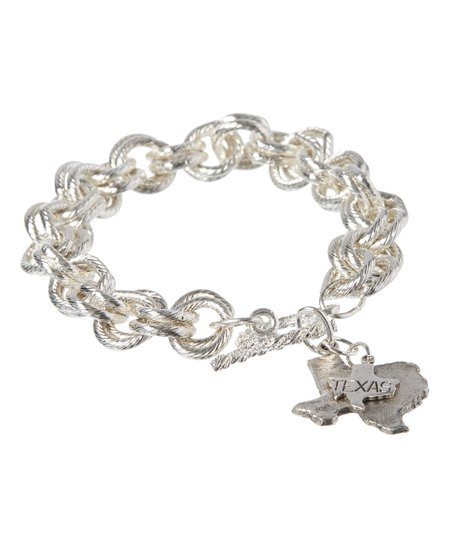 Silver Plated State Charm Bracelet