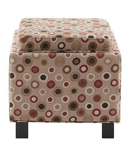 Remarkable Main Green Beige Dot Storage Ottoman Pillow Set Inzonedesignstudio Interior Chair Design Inzonedesignstudiocom