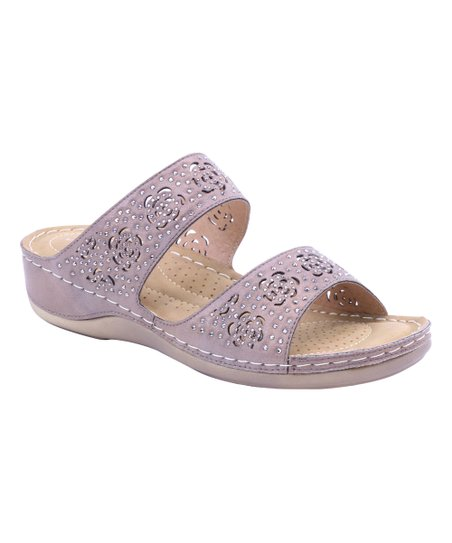 ce48b0a85 love this product Taupe Perforated Two-Strap Sandal - Women