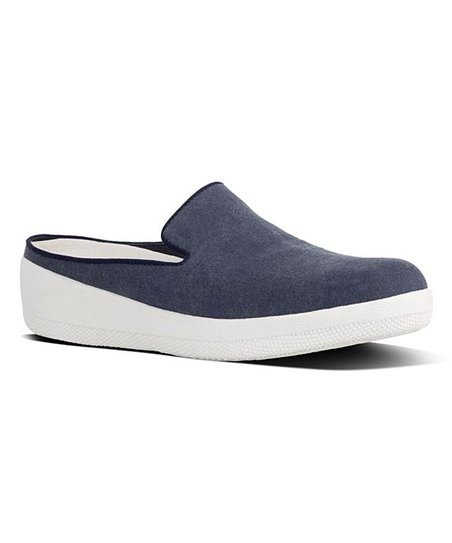 8c113ae8e366c FitFlop Midnight Navy Superskate Canvas Mule - Women