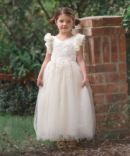 2f2175b81 Trish Scully Child Ivory Bianca Gown - Toddler & Girls | Zulily