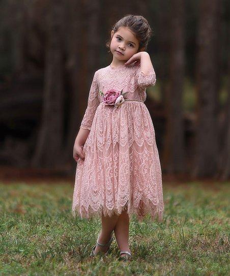 a2a0920517 Trish Scully Child Pink Lace Bella Rafaela Dress - Infant