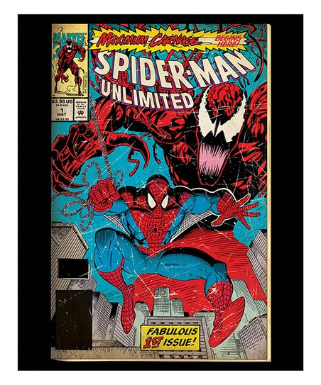 Entertainart Spider Man Maximum Carnage Comic Book Cover Wrapped