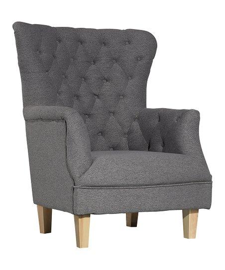 Awe Inspiring Poly Bark Corvair Highback Accent Chair Zulily Creativecarmelina Interior Chair Design Creativecarmelinacom