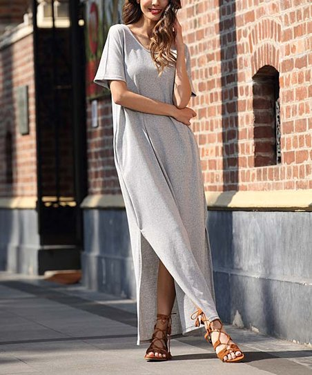 2ce03ca7421 Z Avenue Light Gray Maxi Dress - Plus