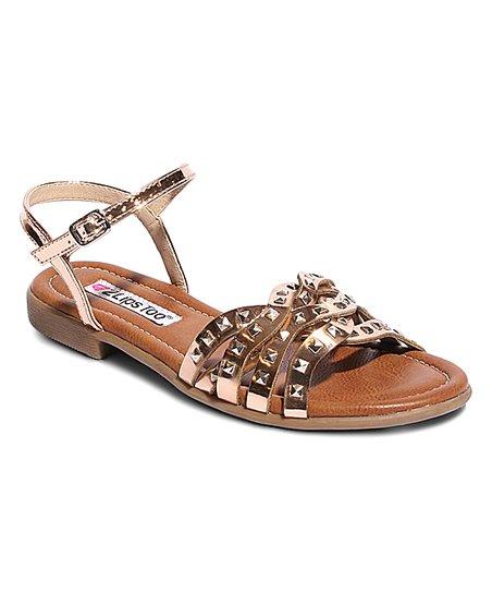 3bf43630479 love this product Rose Gold Studded Ellen Sandal - Women